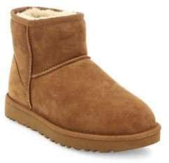 Women's Classic Heritage Mini II Suede& Sheepskin Boots - Grey - Size 10