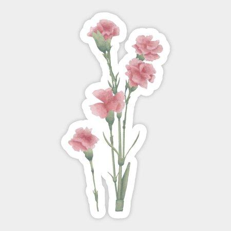 Pink flower - Watercolor Flowers - Sticker | TeePublic