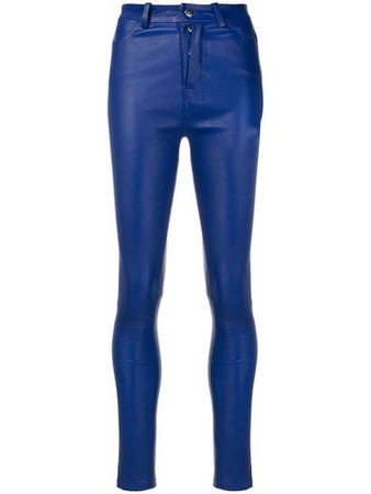 Blue Manokhi Second Skin Trousers | Farfetch.com