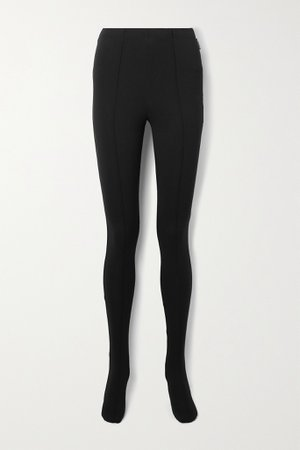 Black Stretch-ponte leggings   Balenciaga   NET-A-PORTER