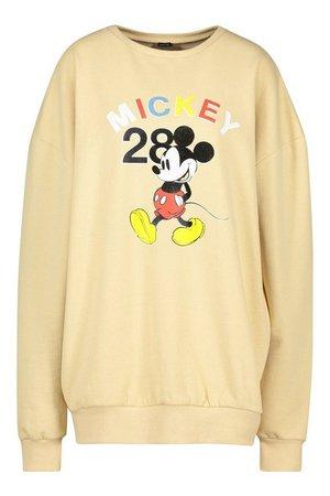 Disney Mickey Mouse Printed Sweat   Boohoo