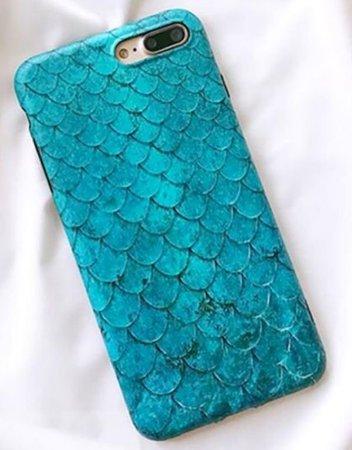 teal mermaid iPhone case