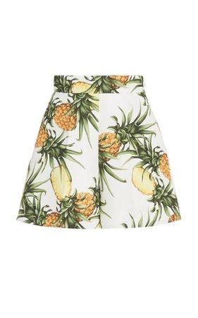 Printed Faille Shorts By Oscar De La Renta | Moda Operandi