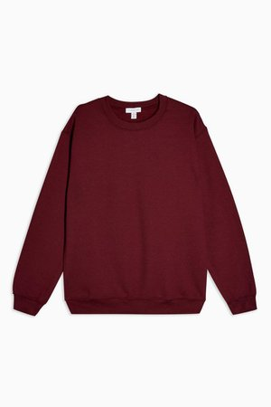 Burgundy Everyday Sweatshirt | Topshop