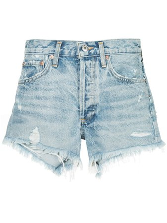 AGOLDE Parker Distressed Denim Shorts - Farfetch