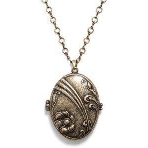 Gold Vintage Locket Necklace