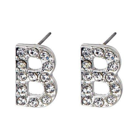 b earrings silver - Google Search