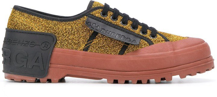 x Superga glitter-embellished sneakers
