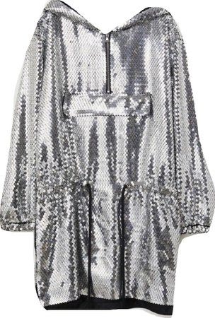 long-sleeve silver sequin dress H&M Moschino