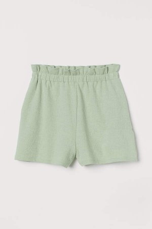 Paper-bag Shorts - Green