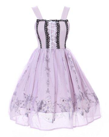 jsk-22 Purple Fairy Butterfly Dreams Fairy Tail Pastel Goth Lolita Chiffon Dress   eBay