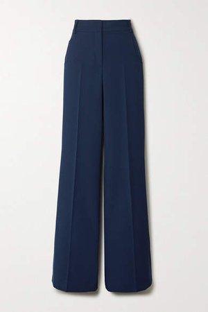 Floyd Wool-twill Wide-leg Pants - Blue