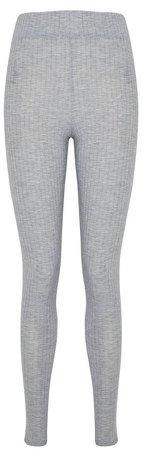 Grey Ribbed Leggings