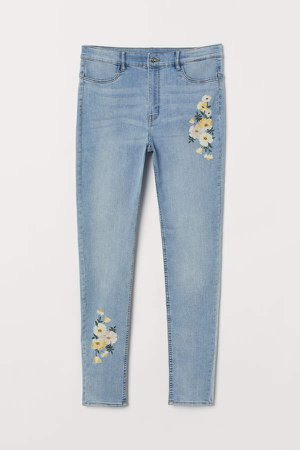 H&M+ Super Skinny High Jeans - Blue