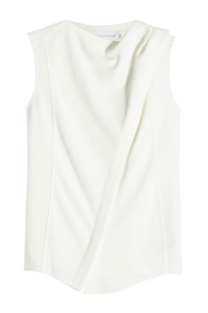 Sleeveless Top with Draped Shoulder Gr. UK 10