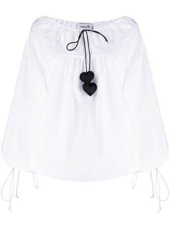 Lanvin Puff Sleeve Blouse RWTO604U4160P20 White | Farfetch