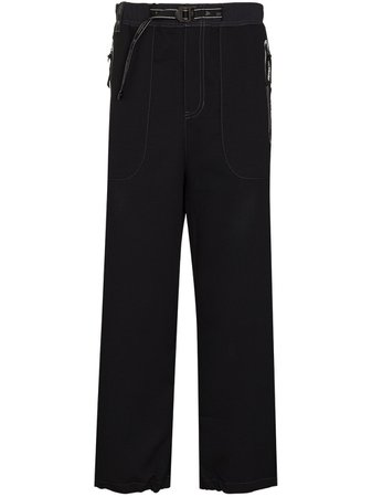 Shop black and Wander straight-leg cropped trousers with Express Delivery - Farfetch