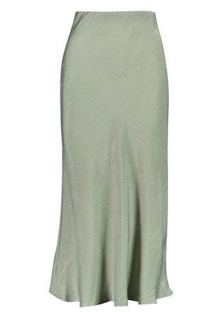 Tall Bias Cut Satin Midi Skirt | Boohoo