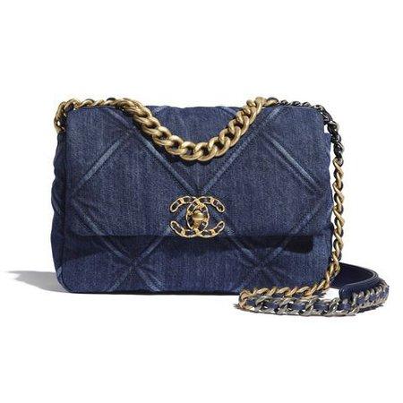 Chanel purse jean denim bag