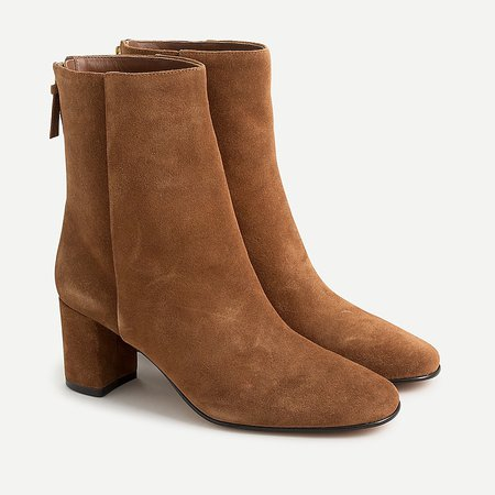 J.Crew: Suede Ankle Boots For Women brown