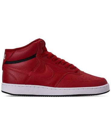 Nike Women's Court Vision Mid Casual Sneakers from Finish Line & Reviews - Finish Line Athletic Sneakers - Shoes - Macy's red