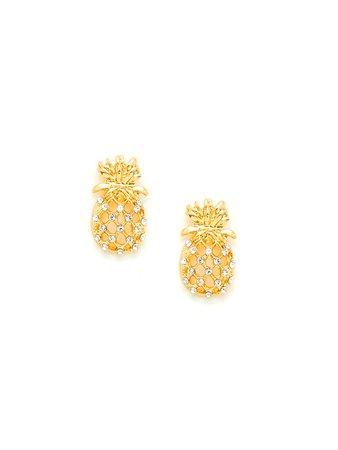 Hollow Pineapple Stud Earrings
