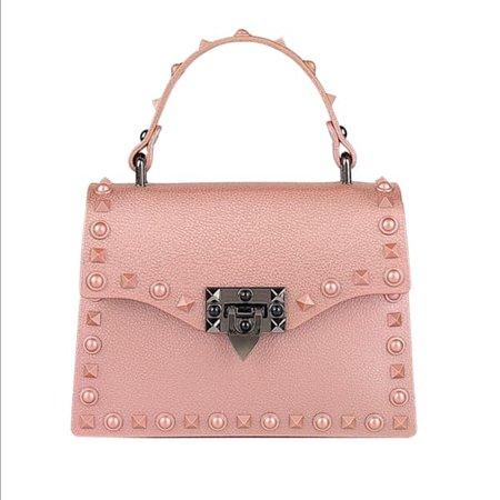 Rebel Rich Bag Веганская кожа с шипами из розового золота | Делэйн Диксон | Волк и барсук