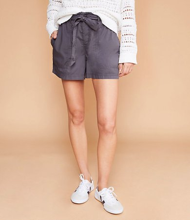 Poplin Tie Waist Shorts