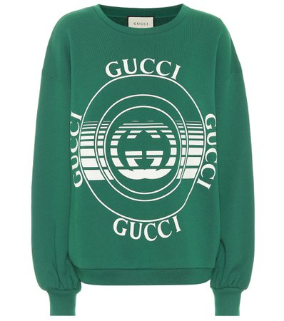 Gucci, Logo Cotton-Jersey Sweatshirt