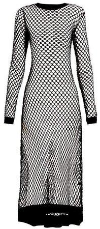 Adeline Fish Net Dress - Womens - Black