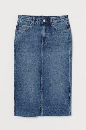 Denim Pencil Skirt - Blue