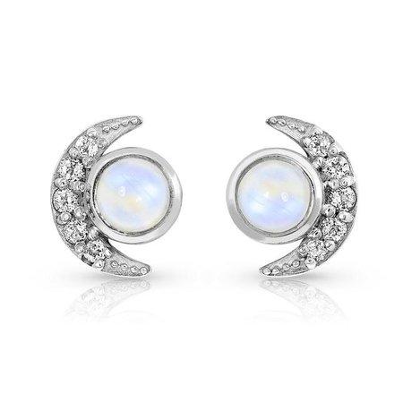 Moonstone / White Topaz Earrings - Moonlighters – Moon Magic