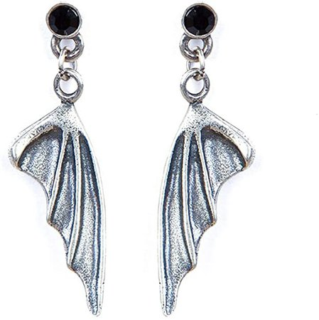Amazon.com: Paialco Antique Sterling Silver Black Onyx Studs with Dragon Wings Dangle Earrings: Jewelry