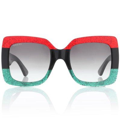 Oversized Square Sunglasses   Gucci - mytheresa