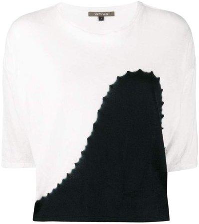 Suzusan two-tone cropped T-shirt