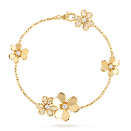Frivole bracelet, 5 flowers - VCARP3W400- Van Cleef & Arpels