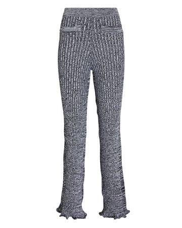 Paco Rabanne Flared Rib Knit Pants | INTERMIX®