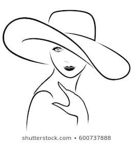 fancy hat drawing - Google Search