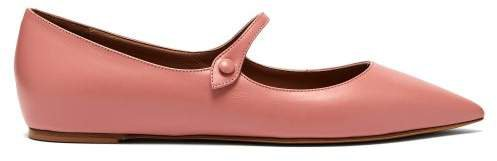 Hermione Leather Mary Jane Flats - Womens - Pink