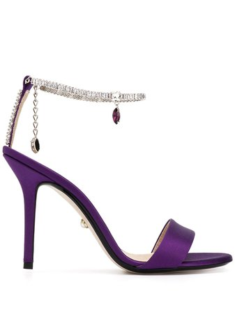 Alevì gem ankle strap sandals purple L20SC011Q0003805 - Farfetch