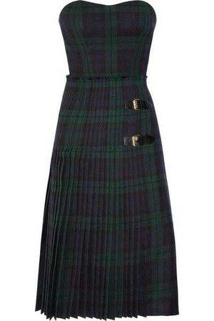 Blue & Green Plaid Dress