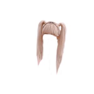 Blonde Hair PNG Bangs Pigtails
