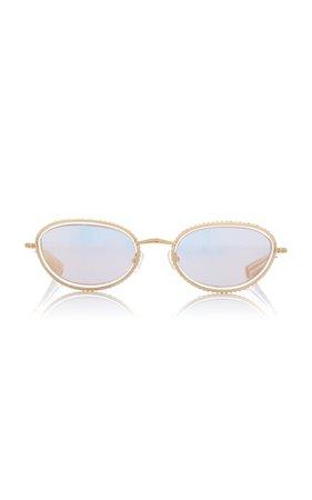 Area X Linda Farrow Crystal Sunglasses