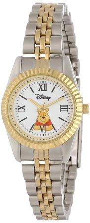 Amazon.com: Disney Women's W000578 Winnie The Pooh Two-Tone Status Watch: Watches