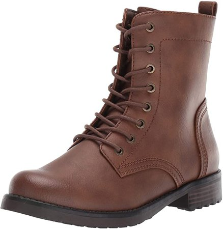 Amazon.com: Amazon Essentials Women's Collins Combat Boot, Cognac, 8.5 B US: Clothing