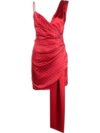 Misha Collection Polka Dot Print Wrap Dress - Farfetch