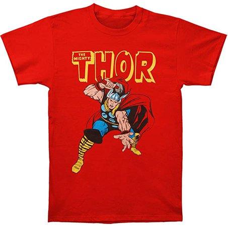 Amazon.com: Thor War Hammer Red T-Shirt- XLarge: Clothing