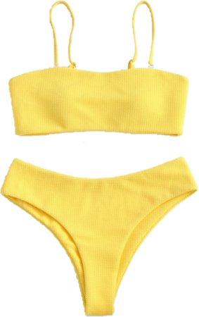 ⛓simple yellow bikini