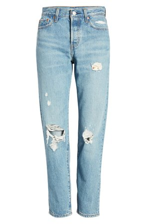 Levi's® Wedgie Icon Fit Ripped Straight Leg Jeans (Authentically Yours) | Nordstrom