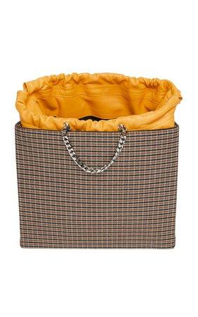 Chain-Linked Wool Checked Shopper by Victoria Beckham | Moda Operandi